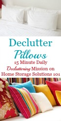 Declutter Pillows