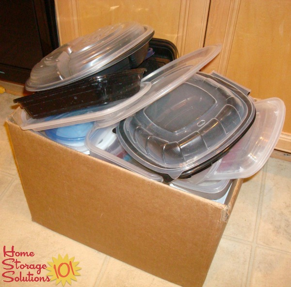 Get rid of excess take out supplies as part of the #Declutter365 missions on Home Storage Solutions 101