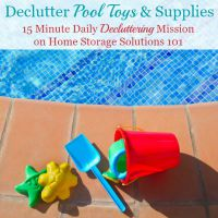 Declutter Pool Toys & Supplies