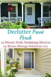 Declutter Your Porch