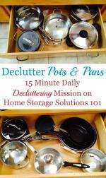 Declutter Pots & Pans
