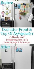 Declutter Refrigerator