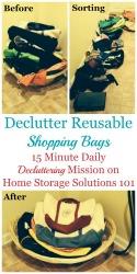 Declutter Reusable Shopping Bags