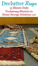 How To Declutter Rugs