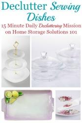 Declutter Serving Dishes
