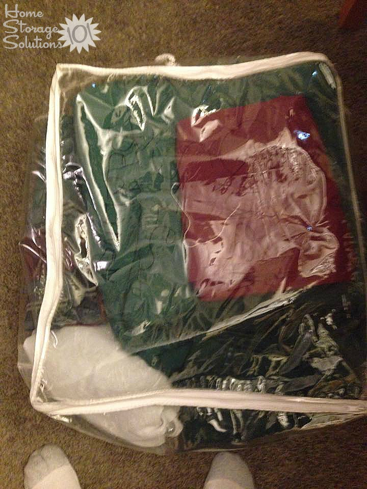 Sheets, pillowcases and other bedding that was decluttered and donated as part of the Declutter 365 missions on Home Storage Solutions 101