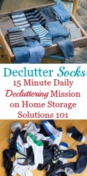 How To Declutter Socks
