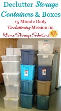 Declutter Storage Containers