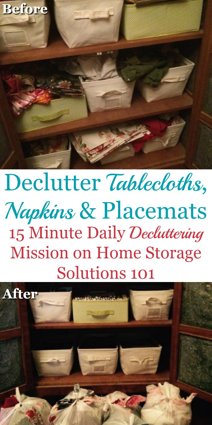 How To Declutter Tablecloths Napkins Amp Placemats