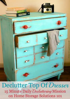 Declutter Top Of Dresser: 15 Minute Mission