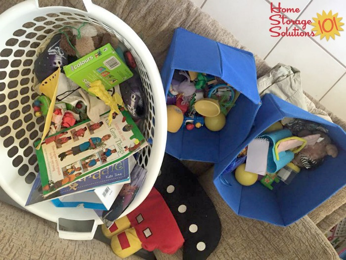 Getting rid of toy clutter, as part of the #Declutter365 missions on Home Storage Solutions 101