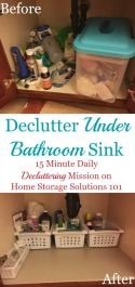 Declutter Under Bathroom Sink