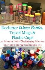 Declutter Water Bottles
