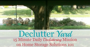 How to declutter your yard