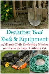 Declutter Yard Tools And Equipment
