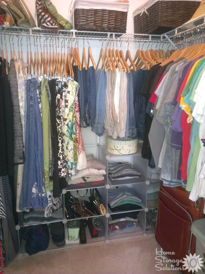 How to declutter your closet hanging clothes No closet hanging solutions