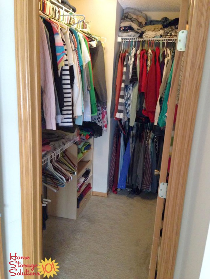 Declutter Your Closet To Make It Instantly Feel More Organized And Spacious  {featured On Home ...
