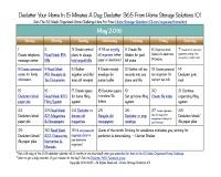 May Declutter Calendar