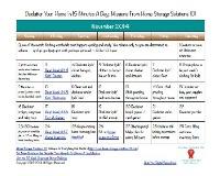 November Declutter Calendar