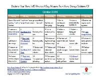 October Declutter Calendar