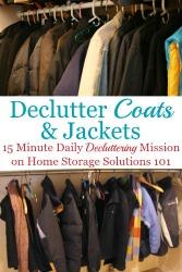 Declutter Your Wardrobe Of Coats & Jackets Clutter