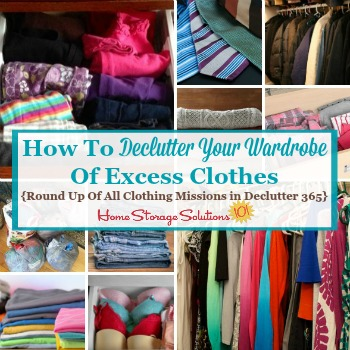 How to declutter your wardrobe of excess clothes