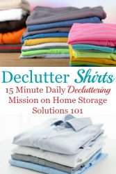 How To Declutter Your Wardrobe Of Shirts