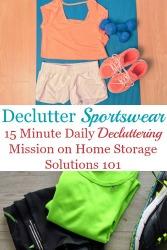 Declutter Your Wardrobe Of Sportswear