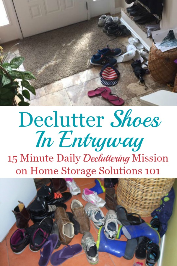 Tips For Decluttering Shoes By The Door Or Entryway, With Ideas For How To  Keep ...