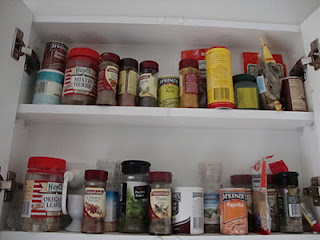 Spice cabinet - before