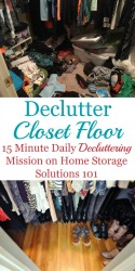 Decluttering Your Closet Floor