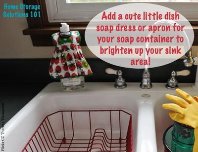 Dish Soap Apron Or Dress: Cute Way To Brighten Up Your Sink Area