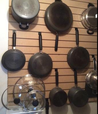 Hanging Pots And Pans On Wall organizing pots and pans ideas & solutions