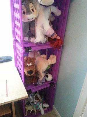 Storage for stuffed animals ideas that work diy stuffed animal jail good idea for much smaller collection solutioingenieria Image collections