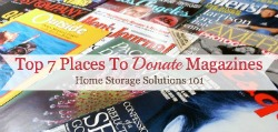 top 7 places to donate magazines