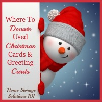 where to donate used Christmas and greeting cards
