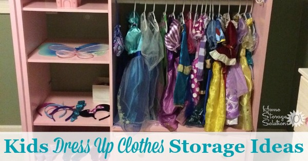 Lots of kids dress up clothes storage ideas to let your kids wear their costumes while keeping things organized {featured on Home Storage Solutions 101}