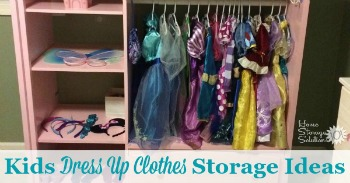 Kids dress up clothes storage ideas