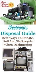 Electronics Disposal Guide