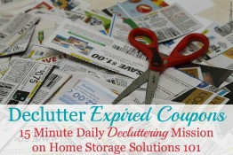 Avoid Accumulating Expired Coupons
