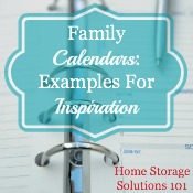 examples of family calendars