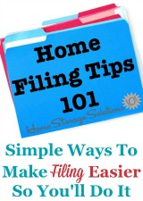 Home Filing Tips