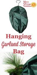Hanging Garland Storage Bag