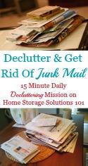 Declutter & Get Rid Of Junk Mail