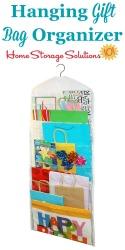Hanging Gift Bag Organizer