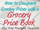 how to compare grocery prices with a grocery price book