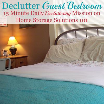 declutter bedroom.  Guest Bedroom Declutter Mission How To Clear The Clutter