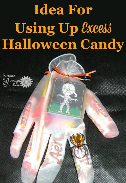 Idea for using up excess Halloween candy to give it to others, so it doesn't stay in your house! {featured on Home Storage Solutions 101}