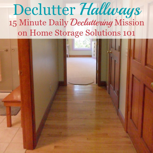 #Declutter365 mission to get rid of your hallway clutter, with tips and before and after photos {on Home Storage Solutions 101}