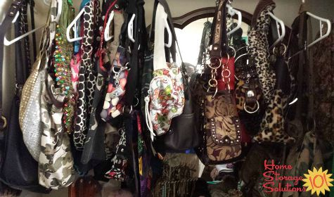 using hangers for handbag storage
